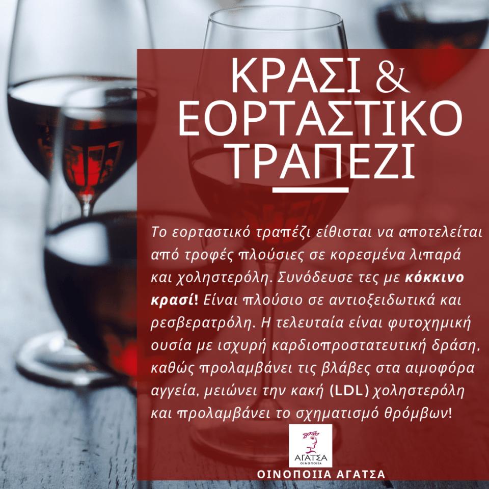 Κρασί και εορταστικό τραπέζι