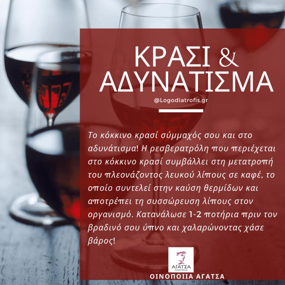 Κρασί και Αδυνάτισμα