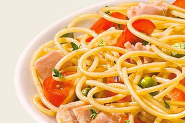 Spaghettini olikhs alesews me tono ntomatinia kaparh