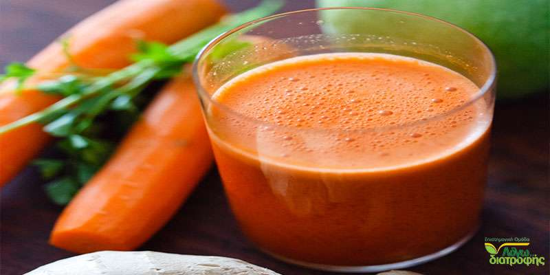 Αντιοξειδωτικό ρόφημα με καρότο