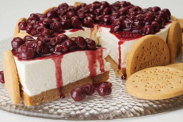 cheesecake vyssino mpiskota digestive papadopoulou