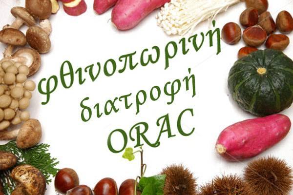 fthinopwrinh diatrofh ORAC